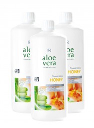 Aloe Vera Drinking Gel Honey 3er-Pack