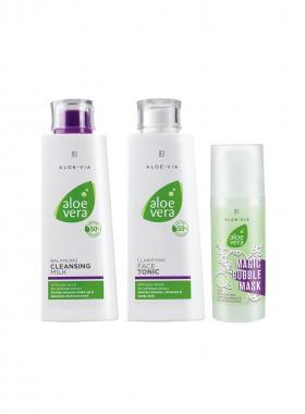 Aloe Vera Face Cleaning Set