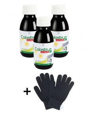 Colostrum Direct 3er-Pack + gratis Smartphone Handschuhe Gr. S