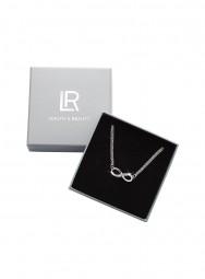 Infinity Halskette mit Swarovski Kristallen