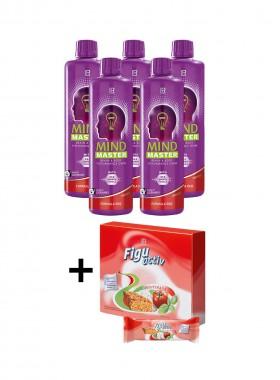 Mind Master Red 5er Pack + Gratis Figuactiv Riegel Mediterana 6er Box